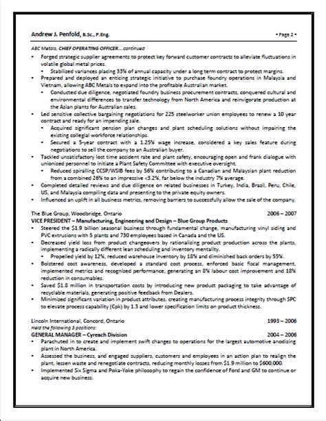 Top Margin Executive Resumes And Coaching by P G Resume