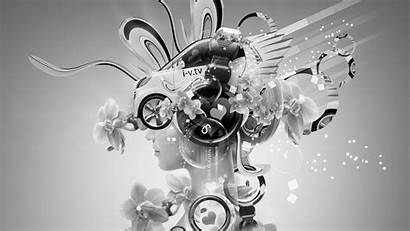 Abstract Neon Fantasy Tony Wallpapers Headphones Flowers
