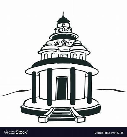 Temple Hindu Vector Clipart Vectorstock Vectors Royalty