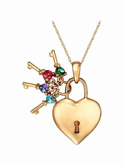 Pendant Heart Birthstone Jewelry Personalized Gold Silver