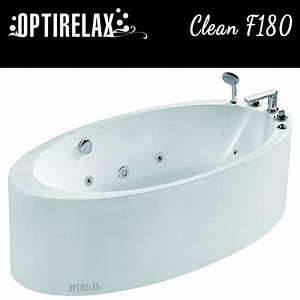 Freistehende Whirlpool Badewanne : freistehende whirlpool badewanne clean f180 optirelax ~ Indierocktalk.com Haus und Dekorationen