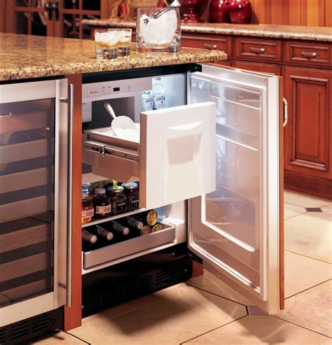 zibihi monogram  undercounter refrigerator ice maker wine shelf panel ready