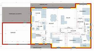plan de maison 150m2 plein pied ventana blog With good plan de maison 150m2 4 maison plain pied 150m2 26 messages