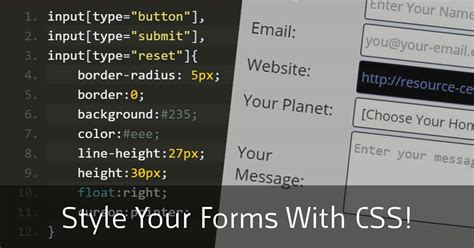 how to style your forms using css free css3 tutorial