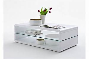 Table Basse Blanc Laqué : table basse design rectangulaire blanc laqu cbc meubles ~ Teatrodelosmanantiales.com Idées de Décoration