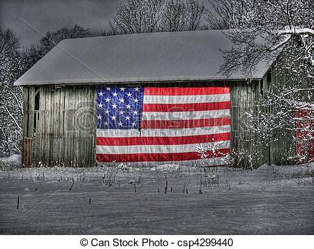 patriotic  barn flag  side   barn  hdr