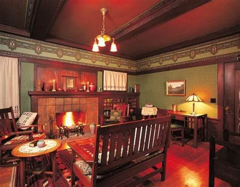 Arts And Crafts Home Interiors by Living Room In A Craftsman Style Bungalow C 1910 In