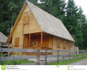 Top Photos Ideas For Wooden Houses Designs by Wood House With Log Walls And Shigle Roof Royalty Free