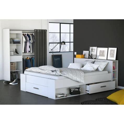 chambre a coucher cdiscount cool oxygene lit adulte blanc l x la chambre coucher with