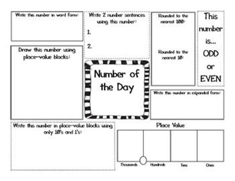 number of the day worksheet 40 weeks of numbers by 3rd