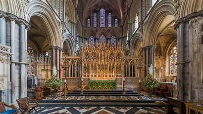 Ely Cathedral Cambridgeshire Altar Inside Kathedrale Backiee