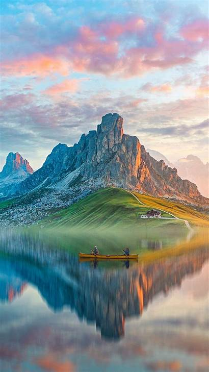 Lake Iphone Mountain Reflection July Nature Wallpapers