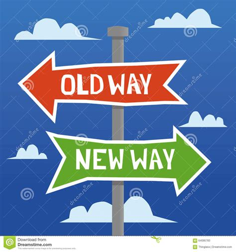 Old Way Versus New Way Stock Vector Image Of Progress