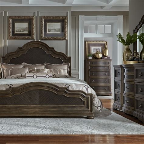 liberty furniture valley springs  piece queen panel bed