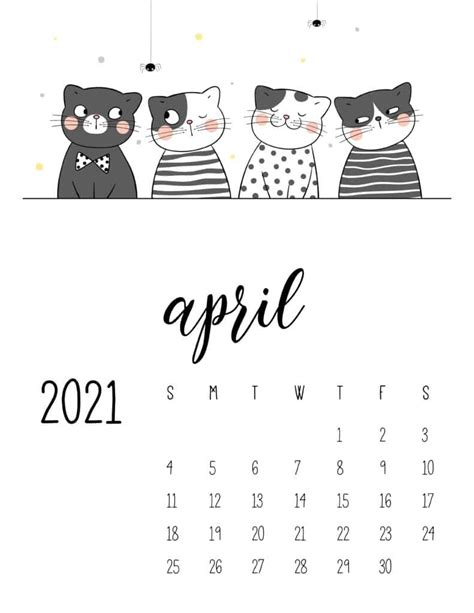calendar cute cats world  printables