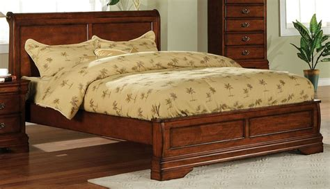 Venice Dark Oak Cal. King Platform Sleigh Bed From