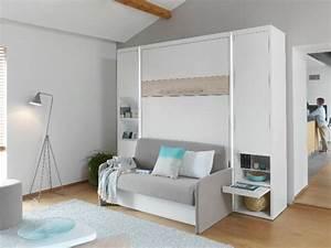Lit Dans Armoire : boutique griffon armoires lits lits escamotables ~ Premium-room.com Idées de Décoration