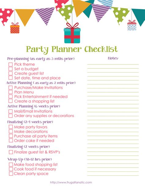 Carnival Birthday Checklist List It With Styled Checklists To Help Keep You Organized