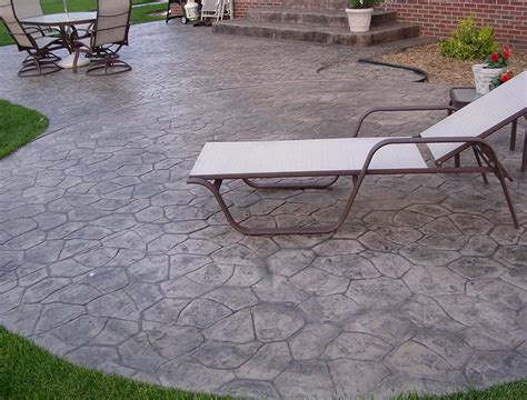 cost of sted concrete patio vs pavers home design ideas