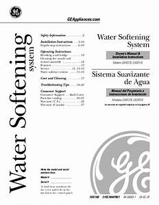Ge Water Dispenser Gxsf27e User U0026 39 S Guide
