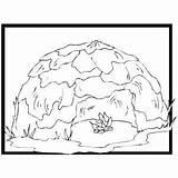 Hut Coloring Bushman Sheet Freecoloringsheets Places sketch template