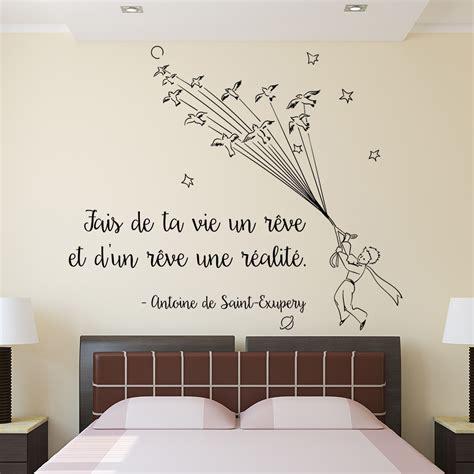 chambre couleurs sticker mural fais de ta vie un rêve stickers muraux