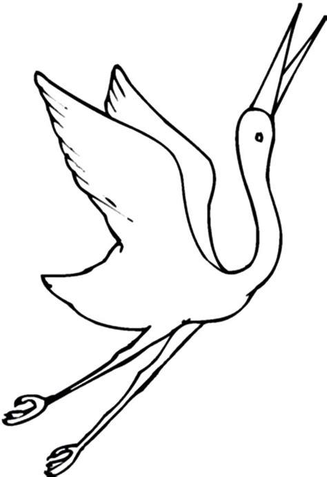 draw crane bird coloring pages netart