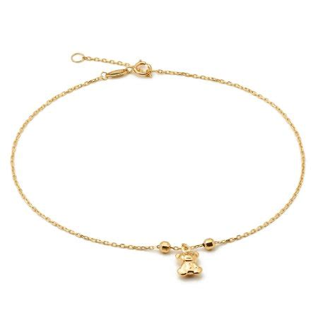 master  bling ankle anklets  women real  yellow