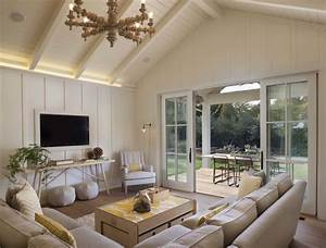 Beige and Yellow Living Rooms - Modern - Living Room