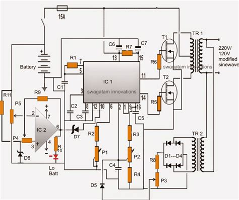modified sine wave inverter with regulated output and low