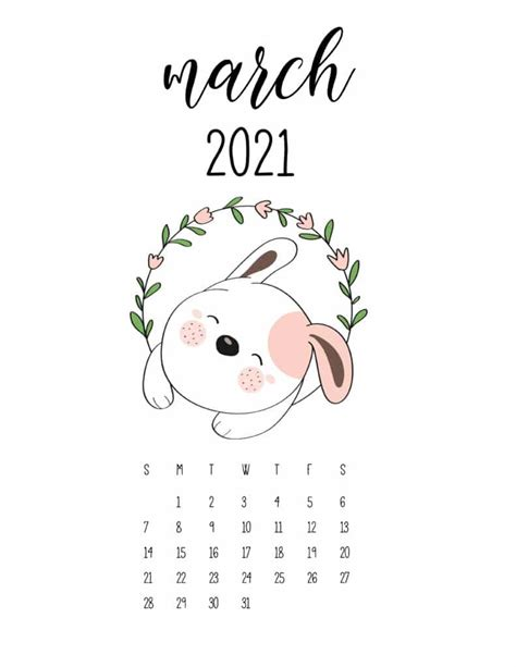 cute animals  calendar  floral frame world