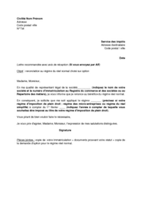 modèle de lettre de renonciation modele lettre option is sci document