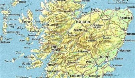 Scotland Physical Map
