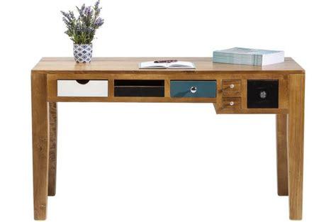 bureau en bois multicolore pas cher