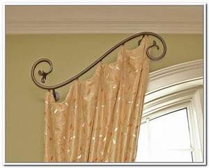 Various concept design of half curtain rods homesfeed for Decorative half curtain rods