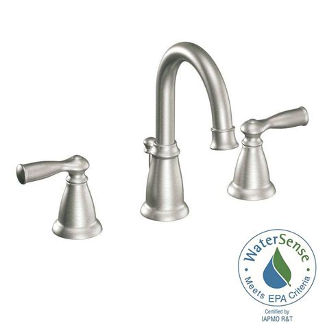 moen bathroom sink faucets moen banbury 8 in widespread 2 handle high arc bathroom