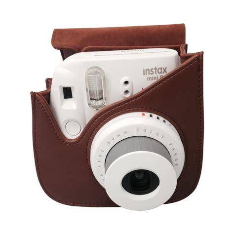 housse instax mini 8 housse premium instax mini 8 marron accessoires pour instax boutique fujifilm