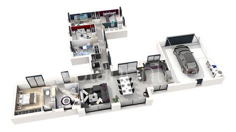 plan 3d chambre maison elifaé