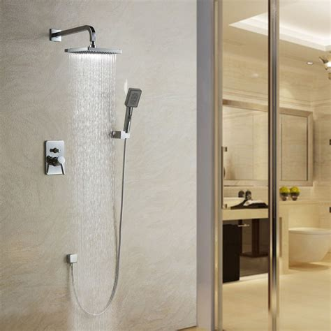 bathroom shower fixture sets contemporary wall mounted shower set faucet 8 quot shower 16391