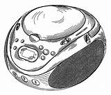 Cd Player Drawing Patents Radio Portable sketch template