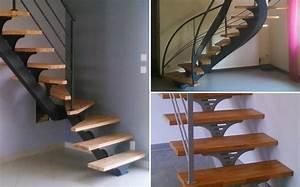 Escalier Metal Prix : escaliers bois m tal exemples de r alisations sur mesure ~ Edinachiropracticcenter.com Idées de Décoration