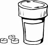 Coloring Bottle Pills Medical Pill Help Medicine Flask Tablet Drugs Capsule Prescription Container Medicines Capsules Ampule Pixcove Medication Drug sketch template