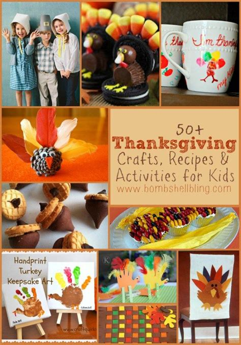 50 thanksgiving crafts recipes activities for kids