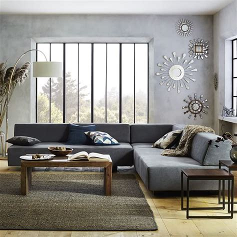 West Elm Tillary Sofa Comfortable by Build Your Own Tillary 174 Sectional Pieces West Elm