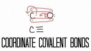 Coordinate Covalent Bonding  Carbon Monoxide