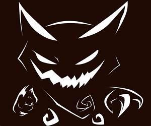 haunter pumpkin stencil by xiotaxdeviantartcom pokemon With pokemon jack o lantern template