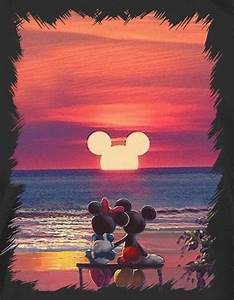 Mickey Mouse And Minnie Mouse Sunset What I Wankt To