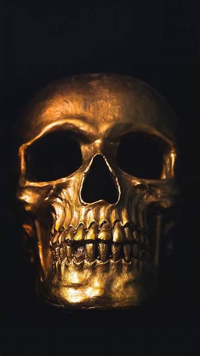 Skull Gold Galaxy Ornament Mobile Background Shine