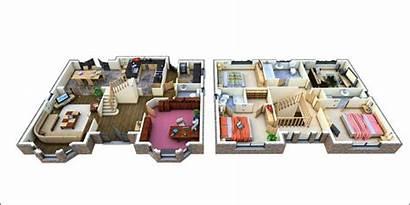 Plans Floor 3d Story Apartment Designs Apartments