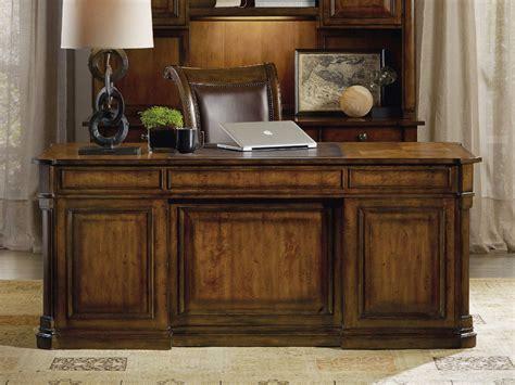 executive desk accessories wood hooker furniture tynecastle medium wood 72 39 39 l x 36 39 39 w